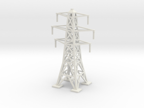 Transmission Tower 1/87 in White Natural Versatile Plastic