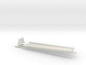 1/35 DKM Schnellboot Shaft SET in White Natural Versatile Plastic
