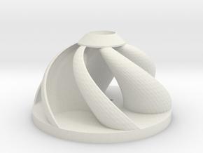 Spherical Wind Turbine in White Natural Versatile Plastic
