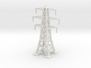 Transmission Tower 1/120 in White Natural Versatile Plastic
