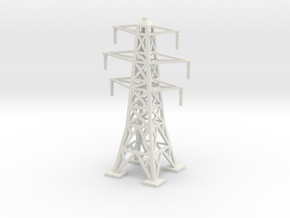Transmission Tower 1/160 in White Natural Versatile Plastic
