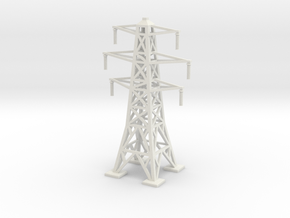 Transmission Tower 1/220 in White Natural Versatile Plastic