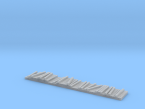 N Scale Railroad Tie-Lumber Gondola Load(Long) in Smooth Fine Detail Plastic