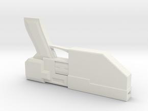 Sci fi pistol in White Natural Versatile Plastic: Extra Large