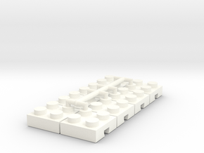 Adapter for Lego-Fischertechnik 2x2-8 in White Processed Versatile Plastic