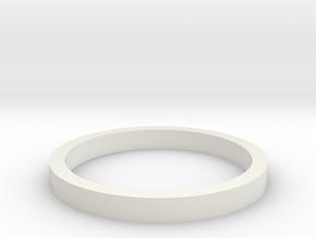 VSR Bar-10 Cylinder guide ring in White Natural Versatile Plastic