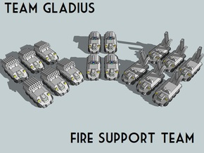 """Team Gladius"" 3mm Fire Support Team (16pcs) in Smooth Fine Detail Plastic"