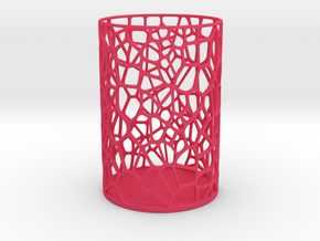 Pen Holder Voronoi in Pink Strong & Flexible Polished