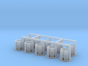 10 Felgen für Tieflader TU 3 / TU 4 in Smooth Fine Detail Plastic