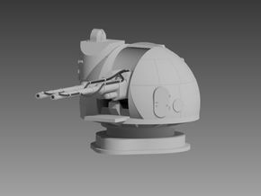 AK 130 twin 130mm Turret 1/200 in Smooth Fine Detail Plastic