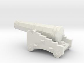 1/48 Scale 24 Pounder Naval Gun in White Natural Versatile Plastic