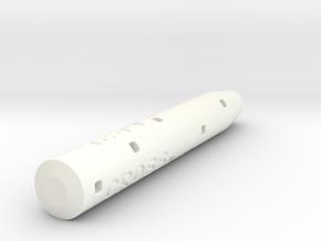 Adapter: Cross Ion Gel To D1 Mini in White Processed Versatile Plastic