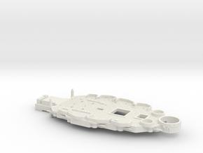 1/700 USS Nevada (1941) Casemate Deck in White Natural Versatile Plastic