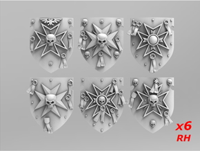 Templars Storm Shields Set 3 in Smooth Fine Detail Plastic