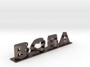Boba Fett 3D Dual Word Illusion in Polished Bronzed-Silver Steel