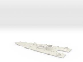 1/700 USS Nevada (1941) Stern Deck in White Natural Versatile Plastic