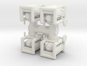 Portable Generator (x4) 1/56 in White Natural Versatile Plastic
