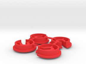 Kyosho Rocky Shock Bottom Cap (Spring Retainer) in Red Processed Versatile Plastic