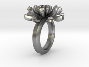 Sea Anemone Ring17.5mm in Natural Silver