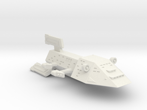3125 Scale Kzinti Command Cruiser (CC) SRZ in White Natural Versatile Plastic