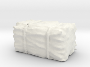Hay Bale 1/87 in White Natural Versatile Plastic