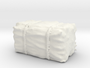 Hay Bale 1/76 in White Natural Versatile Plastic