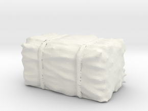 Hay Bale 1/48 in White Natural Versatile Plastic