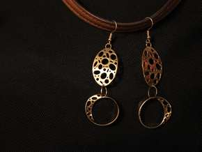 Cynda Earrings in Natural Bronze (Interlocking Parts)