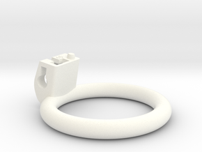 Cherry Keeper Ring - 46mm Flat in White Processed Versatile Plastic
