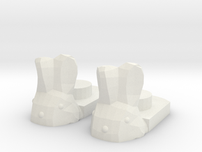 Bunny Slippers in White Natural Versatile Plastic