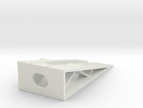 Car Display Ramp 1/43 in White Natural Versatile Plastic
