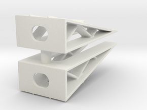 Car Display Ramp (x2) 1/160 in White Natural Versatile Plastic
