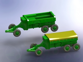 M23 Ammo Trailer 1/144 in Smooth Fine Detail Plastic