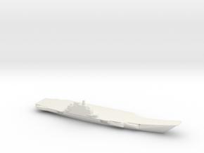 1/1250 Scale Chinese Liáoníng Jiàn Aircraft Carrie in White Natural Versatile Plastic