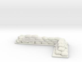 Sandbag Terrian 28mm scale in White Natural Versatile Plastic