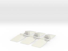 Russ Driver's Plate x6 in White Natural Versatile Plastic