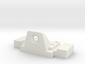 Rear body mount for B1M RC10 conversions  in White Natural Versatile Plastic