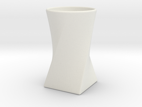 Twist Cup II in White Natural Versatile Plastic