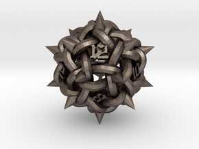 Knot D12 in Polished Bronzed-Silver Steel