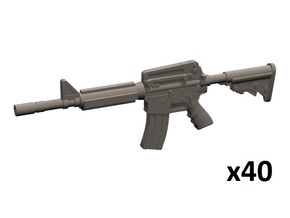 1/35 M4A1 carbine in Smoothest Fine Detail Plastic