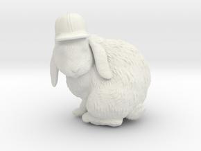 Bunny Baseball Hat in White Natural Versatile Plastic