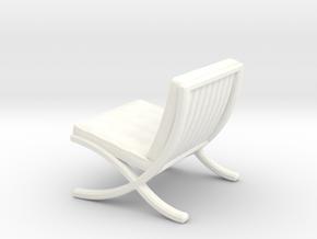 "Mies-Van-Barcelona-Chair - 1/2"" Model in White Processed Versatile Plastic"