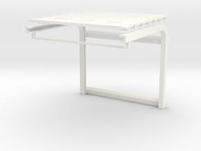 1/64 Overhead Door 16w x 14h (3w x 2.65h) in White Processed Versatile Plastic