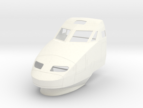 TGV (1:45) in White Processed Versatile Plastic