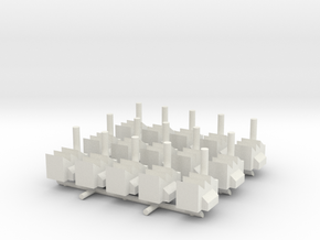 1/285 Scale Industrial Complex (x15) in White Natural Versatile Plastic