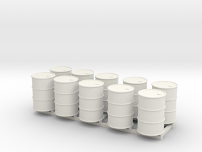 28mm 55gal Drums 10pc in White Natural Versatile Plastic