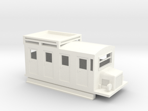 009 RAILBUS WITH LUGGAGE ROOF RACK in White Processed Versatile Plastic