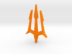 Trident in Orange Processed Versatile Plastic