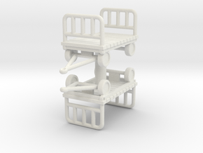 Luggage Cart (x2) 1/76 in White Natural Versatile Plastic