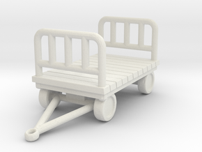 Luggage Cart 1/43 in White Natural Versatile Plastic